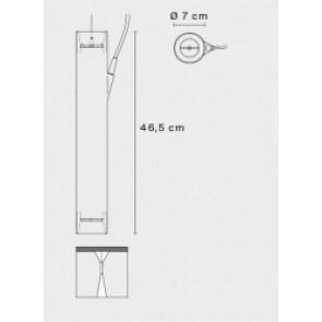 E04 mit Pendel, Ø 7 cm, 46,5 cm Höhe, GU53, max 2x20W, metallgrau