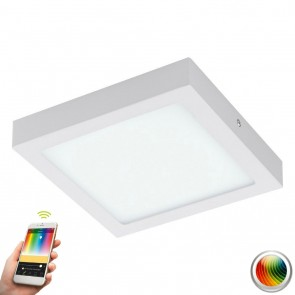 Fueva-C, LED, 22,5 x 22,5 cm, Farbwechsel, CCT, Weiß