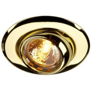 Eyeball Einbauöffnung Ø 6,5 cm gold 1-flammig rund
