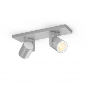 Argenta White & Color Ambiance, 2 flg., aluminium, 2x350lm, 2.000–6.500 K