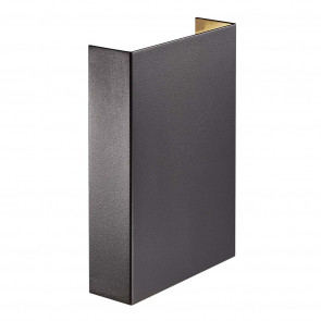 Fold 15 Höhe 21 cm schwarz 2-flammig rechteckig