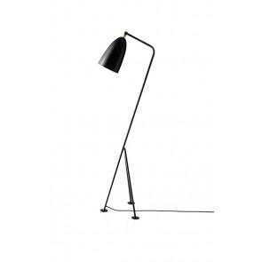 Gräshoppa Floor Lamp, Jet-Black shade