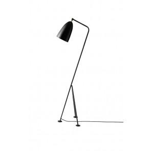 Gräshoppa Floor Lamp, Jet-Black shade