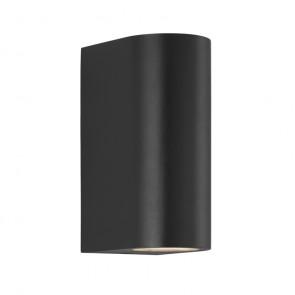 Asbol Höhe 15 cm schwarz 2-flammig halbrund