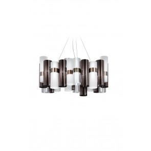 LA LOLLO LARGE SUSPENSION LAMP PELTRO/WHITE