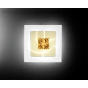 Laguna P35 2Gx13 Push-Dim Delta Amber + Gold Glass Beads