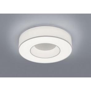 LOMO Deckenleuchte, mattweiß, Schirm Chintz weiß, LED, 30 W, 2800 K, 3100 lm