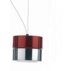 Xiao Tet Suspension Ø 12,5 cm rot 1-flammig zylinderförmig