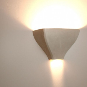 Cortina Höhe 24 cm beige 2-flammig pyramidenförmig