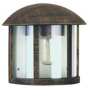 Brostu Höhe 21,5 cm braun-messing 1-flammig halbrund