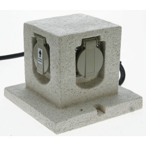 Energiewürfel 17 x 17 cm grau würfelförmig