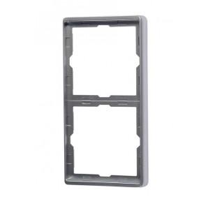 Steinel Rahmen 2fach silber