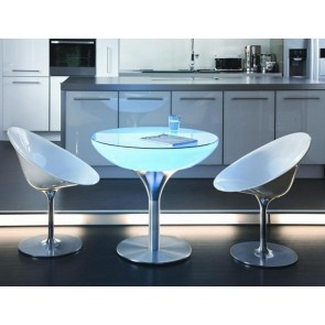 Lounge 75 LED Pro Accu, Farbwechsel, Höhe 75 cm, Ø 84 cm, Fernbedienung, inkl Glasplatte
