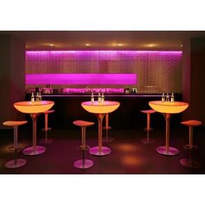 Lounge 105 LED Pro Accu, Farbwechsel, Höhe 105 cm, Ø 84 cm, Fernbedienung, inkl Glasplatte