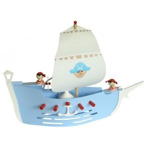 Piratenschiff hellblau, Länge 60 cm