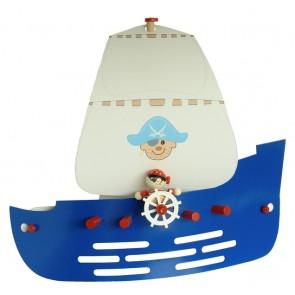 Wandleuchte Piratenschiff