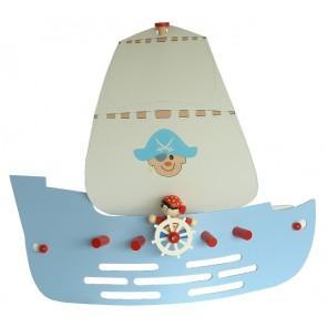 Piratenschiff hellblau, Länge 50 cm
