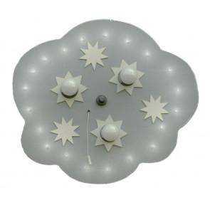 Sternenwolke, E14, 3-flammig, mit Schalter, silber