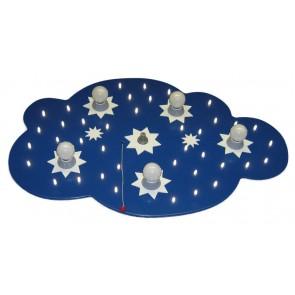 Sternenwolke dunkelblau