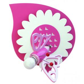 Wandleuchte Falter 30 x 30 cm rosa 1-flammig rund