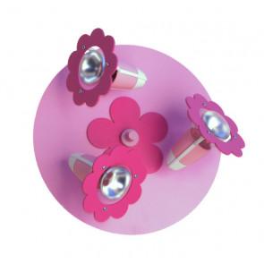 Blüte, E14, 3-flammig, rosa