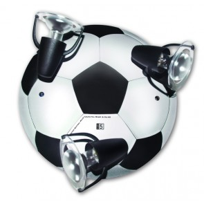 Fußball, E14, 3-flammig, schwenkbar, schwarz-weiß