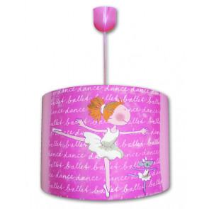 Ballerina Uno Höhe 34 cm pink 1-flammig zylinderförmig