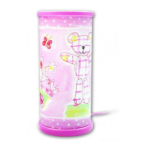 Designers Guild Teddy Höhe 21 cm rosa 1-flammig zylinderförmig B-Ware