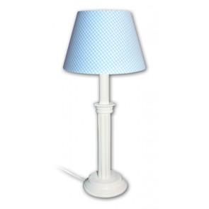 Waldi Leuchten Vichy Karo Uni hellblau-weiß