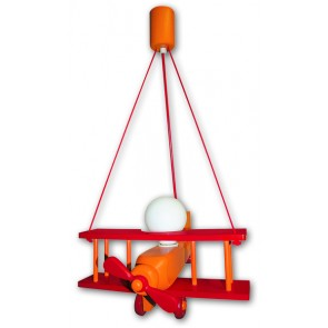 Flugzeug Uno orange-rot