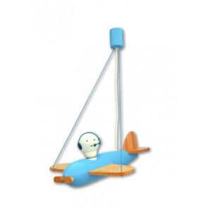 Flugzeug Piccolo Uno hellblau