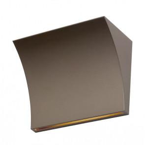 Pochette Breite 19,7 cm bronze 1-flammig viereckig