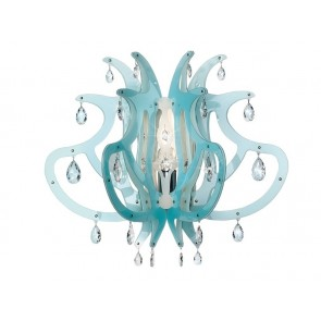 Medusa, Höhe 56 cm, Blau
