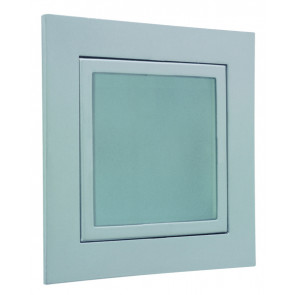 Window 8,2 x 8,2 cm metallisch 1-flammig quadratisch