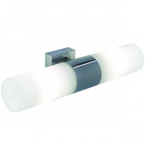 Tangens Breite 31 cm chrom 2-flammig zylinderförmig