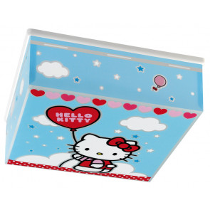 Hello Kitty 31 x 31 cm bunt 1-flammig quadratisch