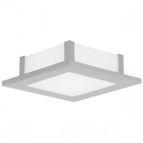 Auriga, nickel matt/ Weiß, 21 x 21 cm