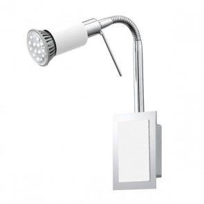 Eridan, 1-flammig, verstellbarer Arm, inkl LED, weiß
