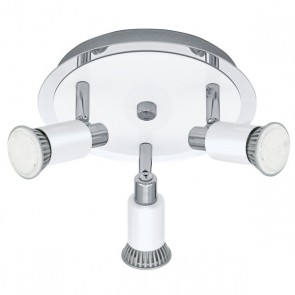 Eridan, 3-flammig, Rondell, inkl LED, weiß