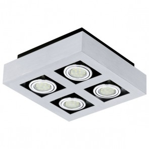 Loke 1, LED, 4-flammig, Schwenkbar, Aluminium