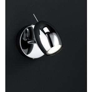 Quincy, 1-flammig, Ø 14 cm, inkl LED, chrom