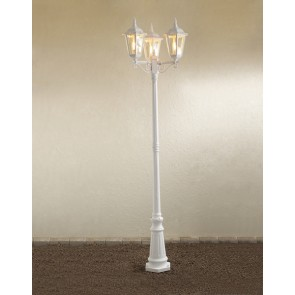 Konstsmide Firenze, 3-flammig, Höhe 220 cm, weiß
