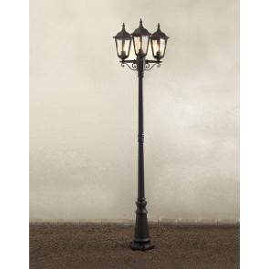 Konstsmide Firenze, 3-flammig, Höhe 220 cm, schwarz
