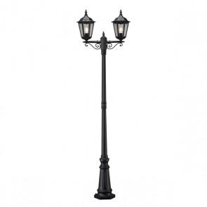 Konstsmide Firenze, 2-flammig, Höhe 220 cm, schwarz