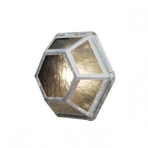 Castor Wandleuchte, galvanisierter Stahl
