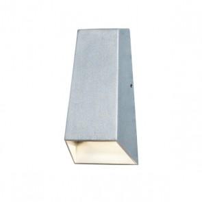 Imola Wandleuchte, Lichtauslass oben schmal, unten breit, Grau