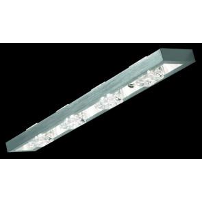 Crystal Breite 62 cm metallisch 4-flammig rechteckig