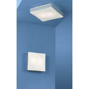 Ceiling Square Light 25,5 x 25,5 cm silber 1-flammig quadratisch