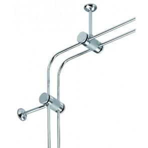 1 Paar Eckverbinder verbinder chrom für Canta