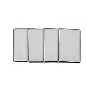 Kiara 4er-Set Breite 8,3 cm metallisch 1-flammig rechteckig